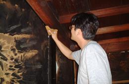 壁画修復 京表具 repair