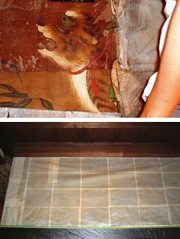 壁画修復 表貼り repair