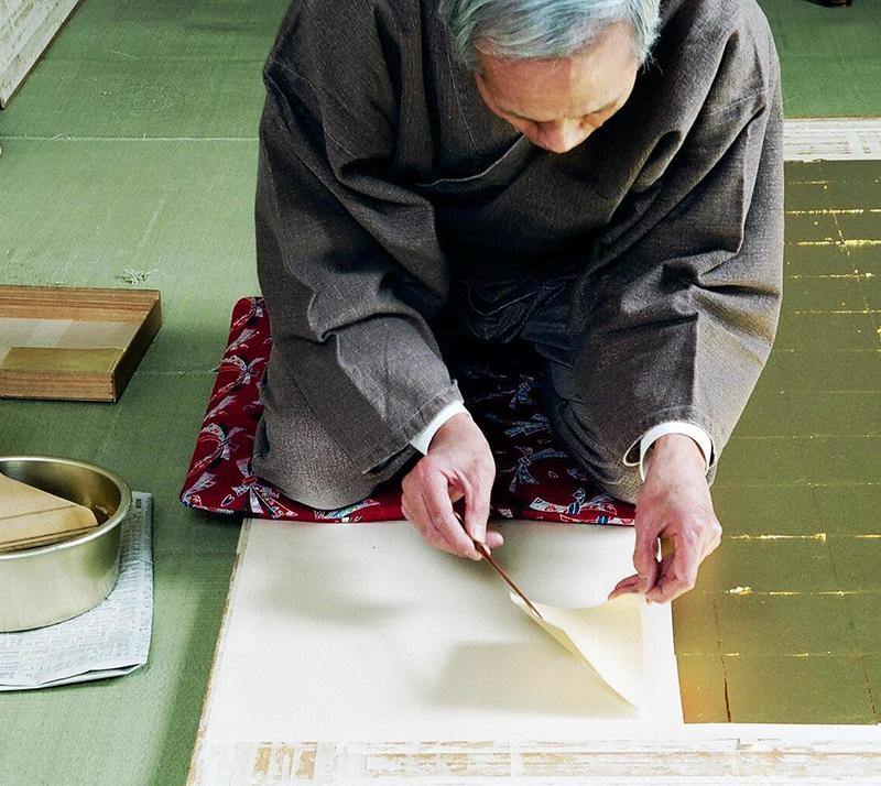 寺院の金紙張り 表具 京都